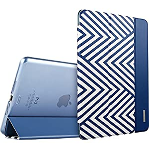 iPad Mini Case, iPad Mini 2 Case, ESR® iPad Mini Tri-fold Smart Case Cover with Magnetic Auto Sleep/ Wake Function for iPad Mini 1/2/3 (Electric Blues) from Electronic Silk Road Corp