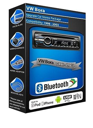 VW Bora de lecteur CD et stéréo de voiture Bluetooth kit Mains Libres avec ports USB/AUX pour iPod/iPhone