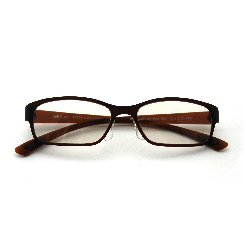 国産レンズ使用【@PC-Light】パソコン用眼鏡(PCメガネ)【全6色】ブルーライト(青色光)カット【BR】
