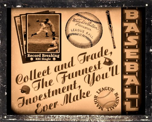 Mancave Gift sign Baseball sports art / vintage retro Wall decor