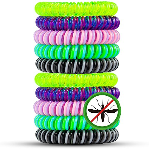 Mosquito Repellent Bracelets, SKYLARKING 10 Pack Pest Control Repeller up to 250Hrs of Insect Protection Wrist Bands for Adults & Kids -No Spray Deet-free All Natural Plant Oils - Outdoor and Indoor (Fan Hand Spray compare prices)