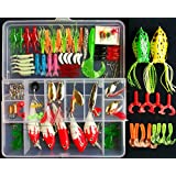 Fishing Lure Set Kit,LifeVC Soft And Hard Lure Baits Tackle Set Saltwater Freshwater Trout Bass Salmon With Tackle Box