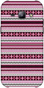 Snoogg Loud Aztec Pink And Black Hard Back Case Cover Shield Forsamsung Galax...
