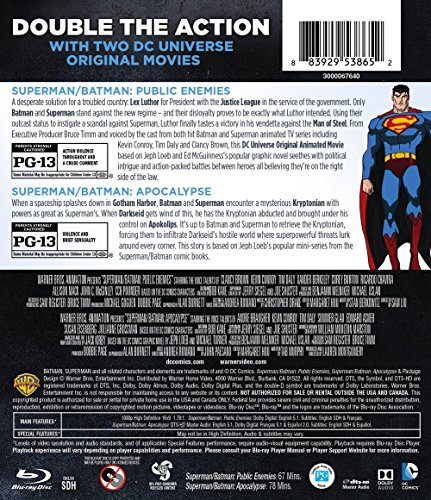 Superman/Batman: Public Enemies/Superman/Batman: Apocalypse (BD) (DBFE) [Blu-ray] at Gotham City Store