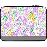 Snoogg White And Pink Floral Pattern 2482 12 To 12.6 Inch Laptop Netbook Notebook Slipcase Sleeve