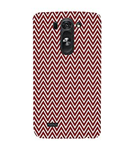 Maroon Chevron 3D Hard Polycarbonate Designer Back Case Cover for LG G3 Beat :: LG G3 Vigor :: LG G3s :: LG g3s Dual