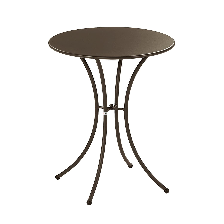 Emu 309054100 Pigalle Tisch 905, ø 60 cm, pulverbeschichteter Stahl, indisch braun