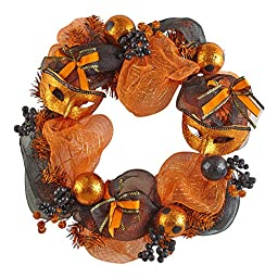Nantucket Home Novelty Halloween Wreath with Masks