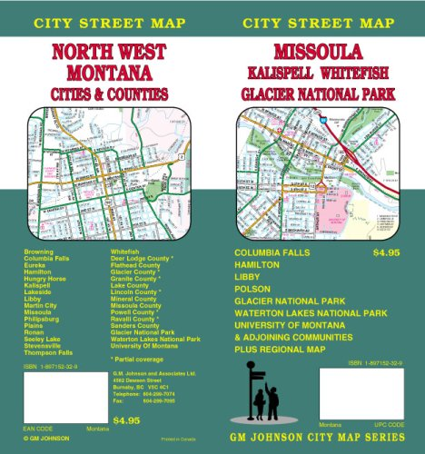 Missoula/Kalispell/Whitefish/Glacier Park/NW Montana Street Map
