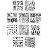 Bundle Monster Holiday Themed Nail Art Stamping Plates - Occasions Collection