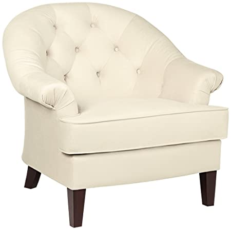 Kash Cream Fabric Upholstered Armchair