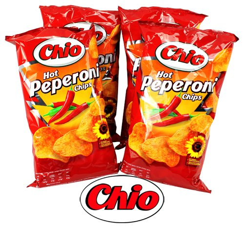 Chio Chips Hot Peperoni 4Pack | Dipworld Edition
