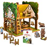 Goldilocks and the Three Bears Toy House and Storybook Playset
