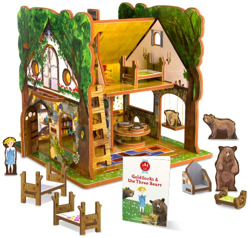New Goldilocks Three Bears Storybook Playset