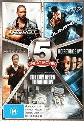 I Robot + Jumper + Day After Tomorrow + Independence Day + Volcano [NON-USA Format / PAL / Region 4 Import - Australia] (I Robot Independence Day compare prices)
