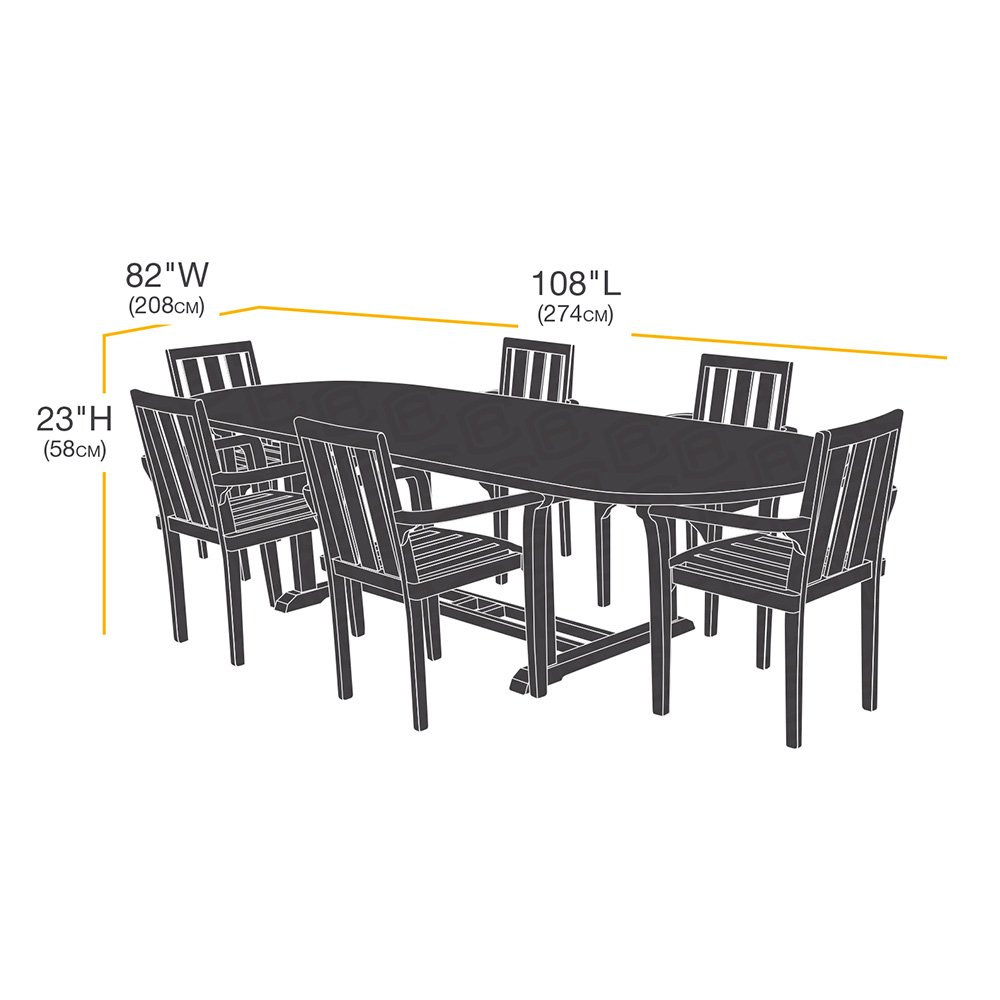 AmazonBasics Rectangular/Oval Table and Chair Set Patio Cover - Large