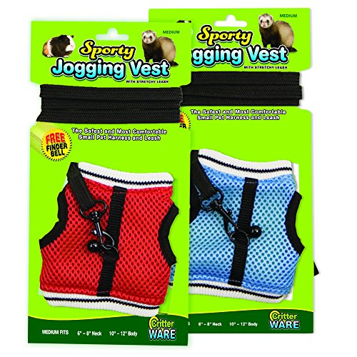 Ware Manufacturing Nylon Walk-N-Vest Pet Harness and Leash for Small Pets, Medium - Colors May Vary (Walking Ware compare prices)