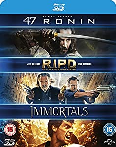 47 Ronin (3D) / RIPD (3D) / Immortals (3D) - 3 Movies Blu-ray Set from Universal Pictures (UK) Ltd.