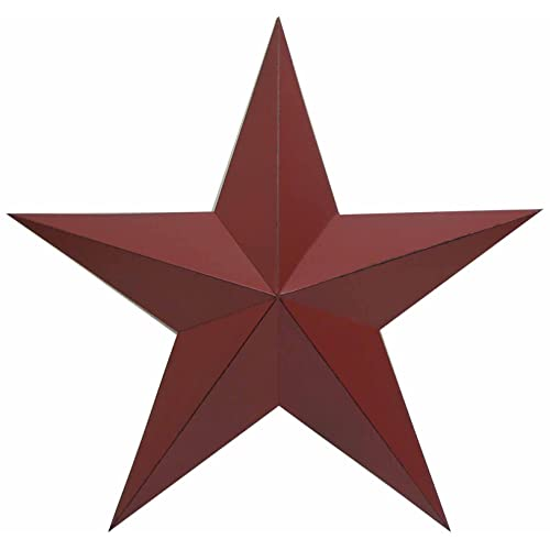 Craft Outlet Antique Star Wall Decor 24-Inch Barn Red