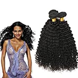 Myfashionhair Grade 6A Indian Kinky Curly Virgin Hair 3 Bundles 1B Natural Black 100g/bundle (18''20''22'')