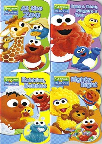 sesame-beginnings-book-series-big-bird-nighty-night-elmo-eyes-nose-fingers-toes-ernie-bubbles-bubble