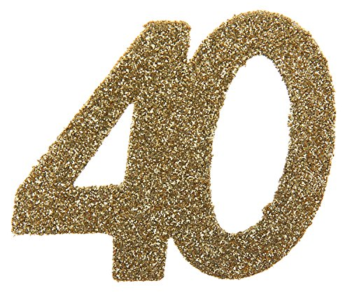 40 40 40 Geburtstag Confetti 40 Geburtstag Konfetti 40 Streudekoration Gold