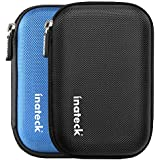 """Inateck 2.5"""" Hard Drive Disk HDD Protective Zipper Carrying Shell Case Cover Bag for 2.5 Inch Portable External Hard Drive, Black"""