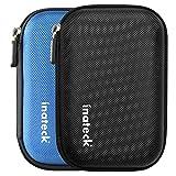 Inateck 2.5インチ ポータブルハードディスクケース 2.5型HDD保護収納ケース 本体/ケーブル用別収納タイプ【ブラック】 ランキングお取り寄せ