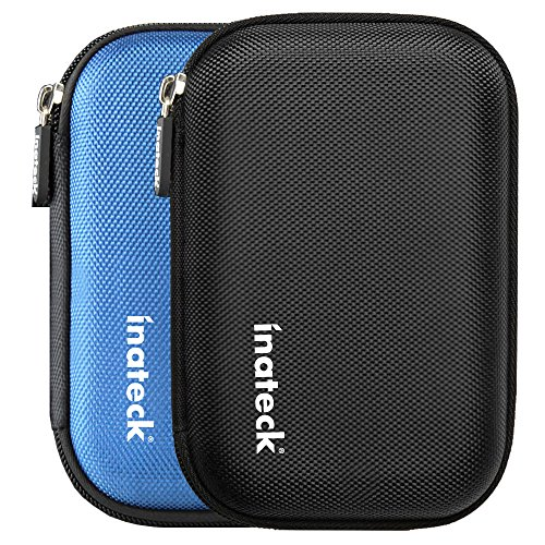 Inateck Housse disque dur externe de 2.5 pouces étui disque dur externe boitier protection disque dur 2.5 (Noire)