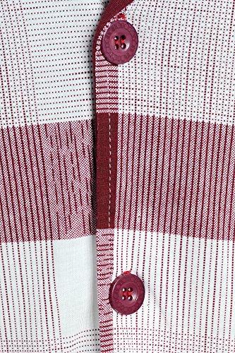 Latuza Men's Bamboo Plaid Short Sleeve Pajamas Set, Red, Small