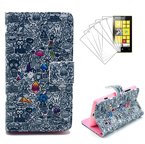 Cuir Coque Strass Case Etui Coque étui de portefeuille protection Coque Case Cas Cuir Swag Pour Nokia Lumia N520 pourpre Flip Cover + 1 Protecteur d'écran