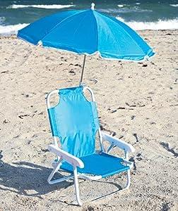 Amazon Com Kids Beach Chair With Adjustable Umbrella