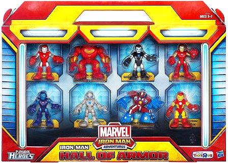 Marvel Playskool Heroes Iron Man Adventures Exclusive Figure 8-Pack Hall Of Armor