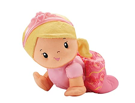 Fisher-Price – Princess Mommy – Touch ' Crawl Princess – Poupée Interactive
