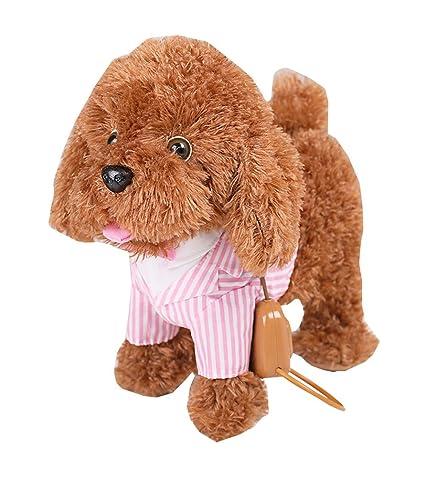 Chiot chien en peluche chien de marche