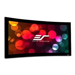 Elite Screens Curve235-166W Lunette Series Curve Fixed Frame Projection Screen