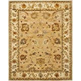 Safavieh Bergama Collection BRG136A Handmade Wool Area Rug, 5-Feet by 8-Feet, Taupe and Ivory
