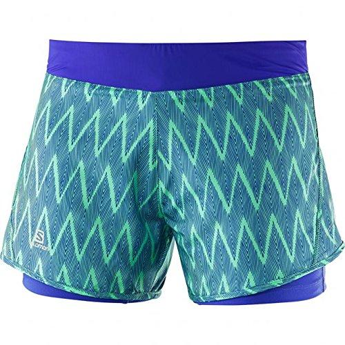 Salomon Park 2In1 W - Pantaloncini da donna, colore Verde, taglia L