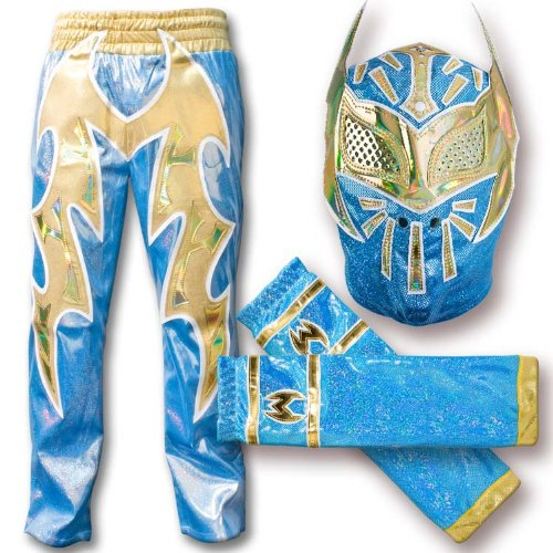WWE Blue Sin Cara Combo Deal Replica Mask Pants Armbands  sc 1 st  Ellista Nicholls : sin cara costumes for kids  - Germanpascual.Com