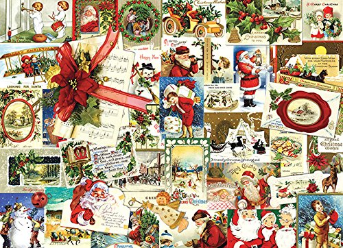 Vintage Christmas Cards Collage Jigsaw Puzzle