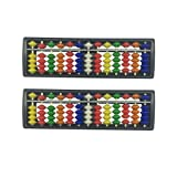 HYHP 2 Pcs Plastic Abacus, Arithmetic Soroban Kids Calculating Tool (13 Digits Rod with 7 Colors Beads)