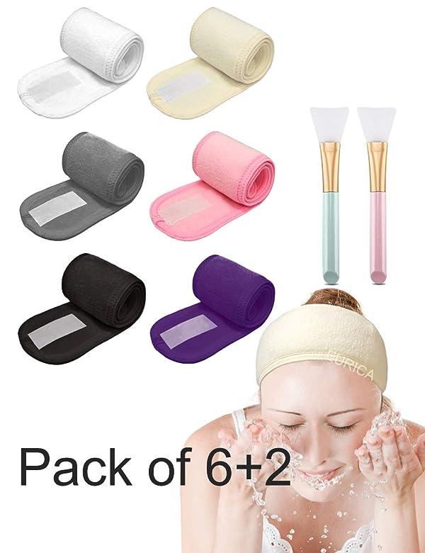 EURICA Spa Headband Hair Wrap Sweat Headband Head Wrap Hair Towel Wrap Non-slip Stretchable Washable Makeup Headband for Face Wash Facial Treatment Sp