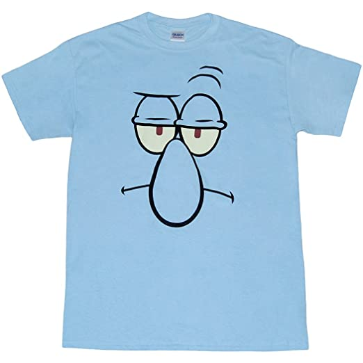 SpongeBob: Squidward Big Face T-Shirt-Large