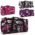 Ladies Designer Holdall Floral Shoulder Bag Weekend / Flight / Maternity / Gym