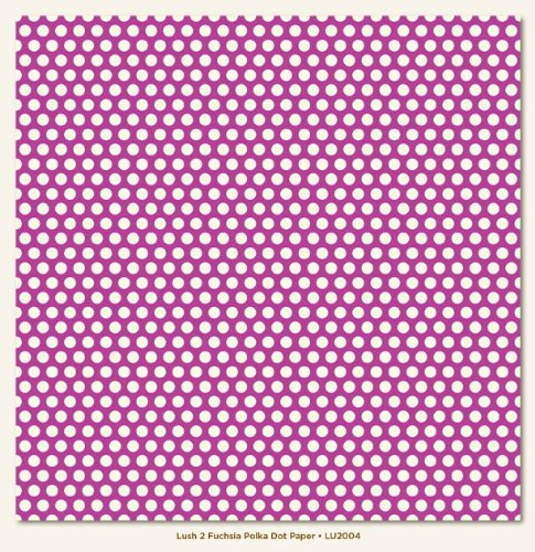 Fuchsia Polka Dot 12X12 Lush Collection Paper 