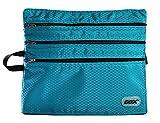 バッグインバッグ 旅行用収納バッグ パスポートケース ファスナー付きハンドバック 4ポケット搭載 デジタル製品やパースポートなどの貴重な小物収納 すぐ出せるほど便利!(ブルー)