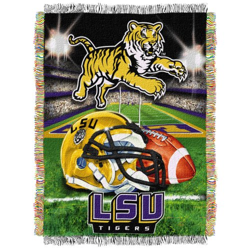 Ncaa Lsu Tigers 48-Inch-By-60-Inch Acrylic Tapestry Throw front-502545