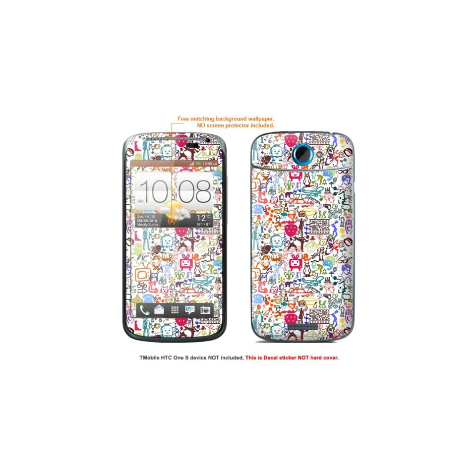"Protective Decal Skin Sticker for T Mobile HTC ONE S "" T Mobile version"" case cover TM_OneS 591 Cell Phones & Accessories"