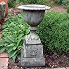 Large Garden Planter - Modena 30 Stone Vase Plant Pot on Plinth