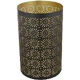 CONJURE Iron Tealight Candle Holder (13.5 Cm X 14 Cm X 21.5 Cm, Black)